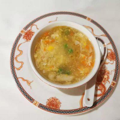 Potage aux maïs et poulet