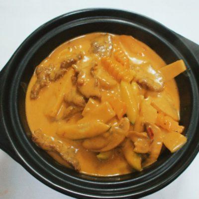 Bœuf au curry rouge