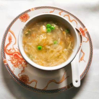 Potage aux crabes et asperges