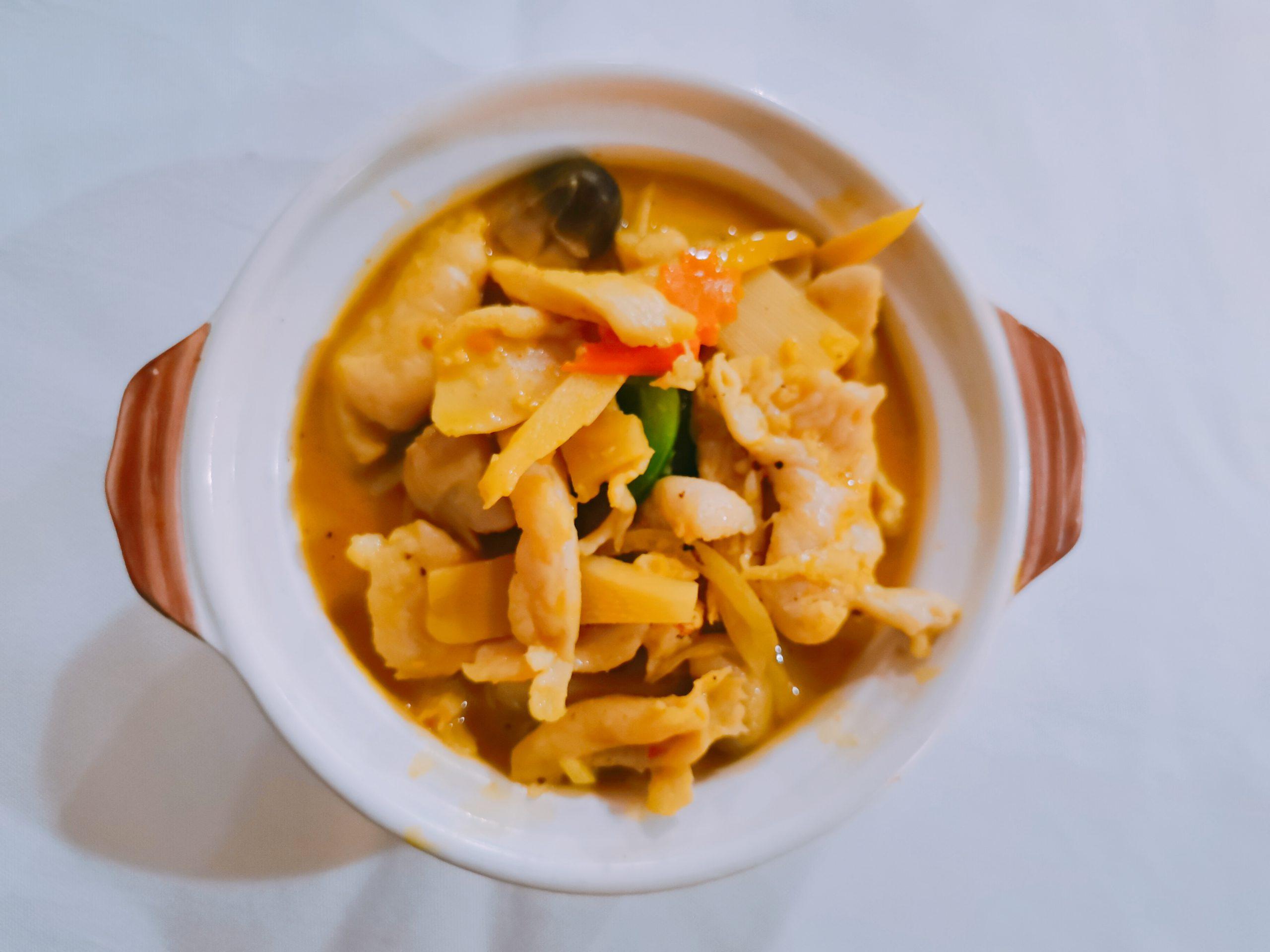 Poulet au curry rouge